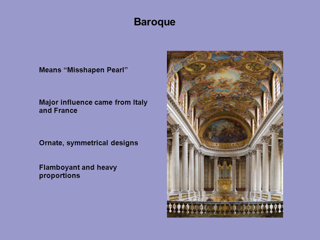 Baroque Means Misshapen Pearl