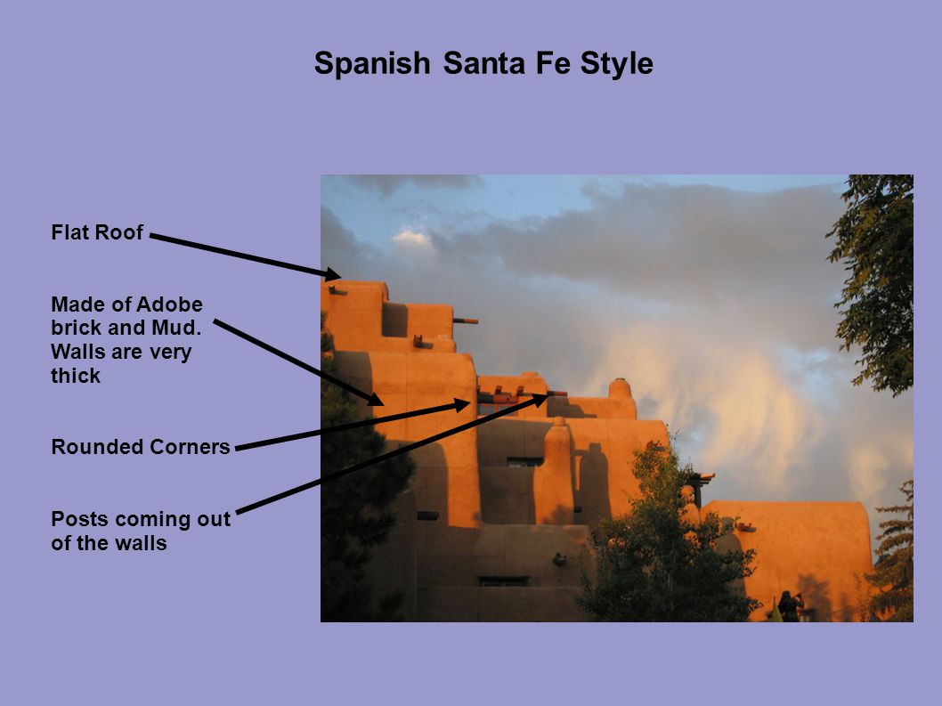 Spanish Santa Fe Style Flat Roof