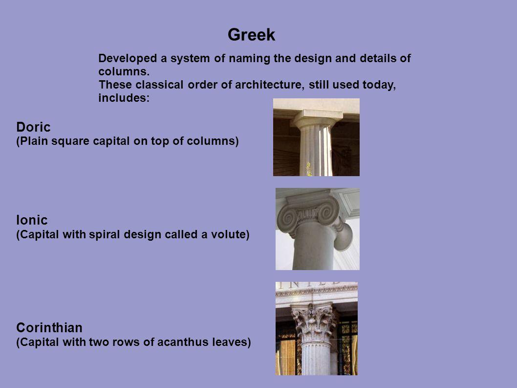 Greek Doric Ionic Corinthian