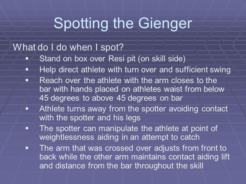 Spotting the Gienger What do I do when I spot