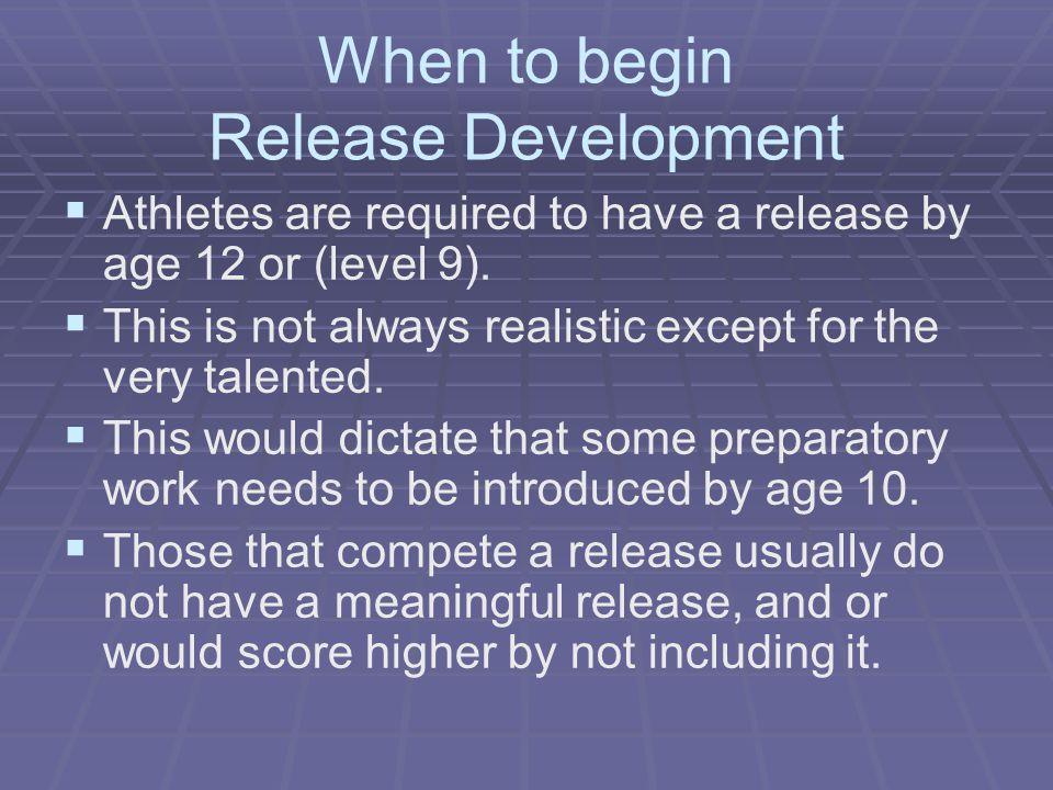 When to begin Release Development