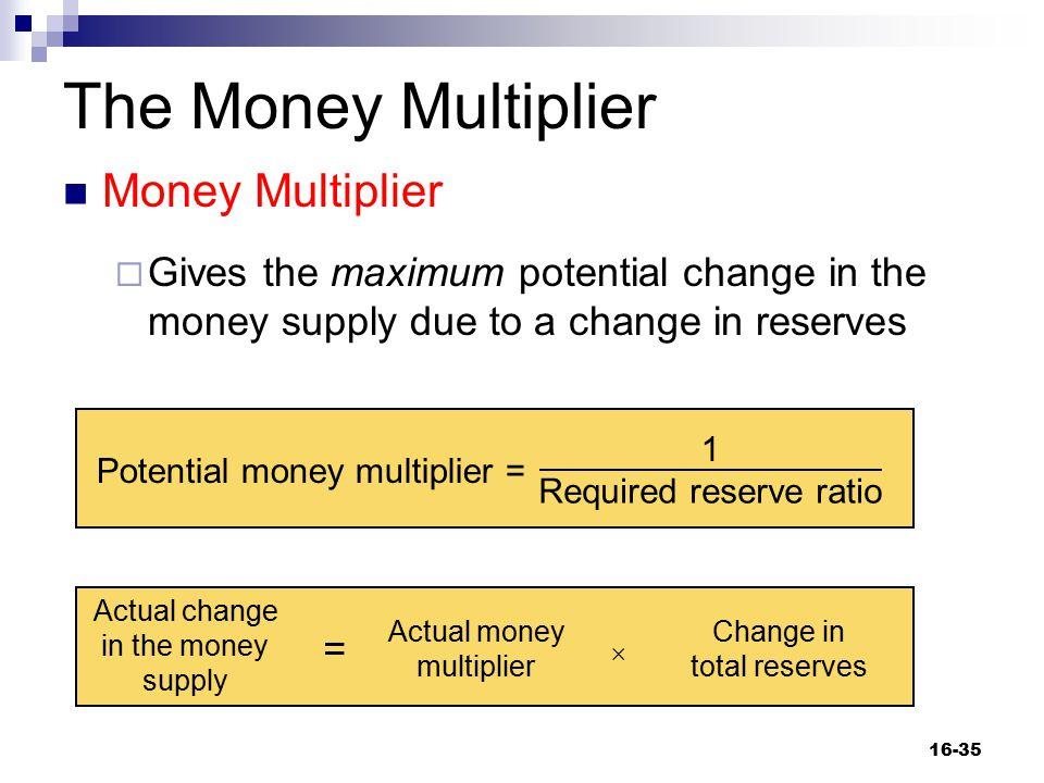 The Money Multiplier Money Multiplier
