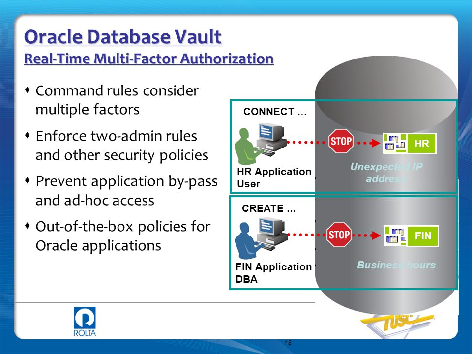 Oracle Database Vault Real-Time Multi-Factor Authorization