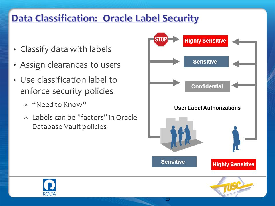 Data Classification: Oracle Label Security