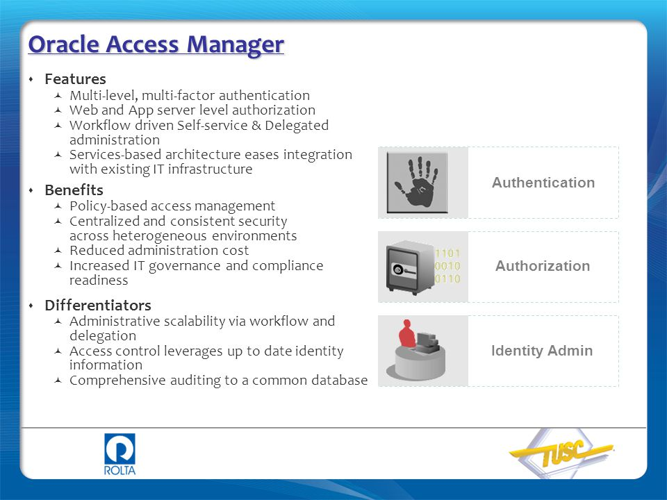Oracle Access Manager Features Benefits Differentiators