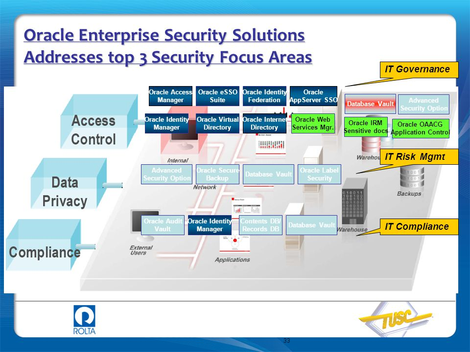 Oracle Enterprise Security Solutions