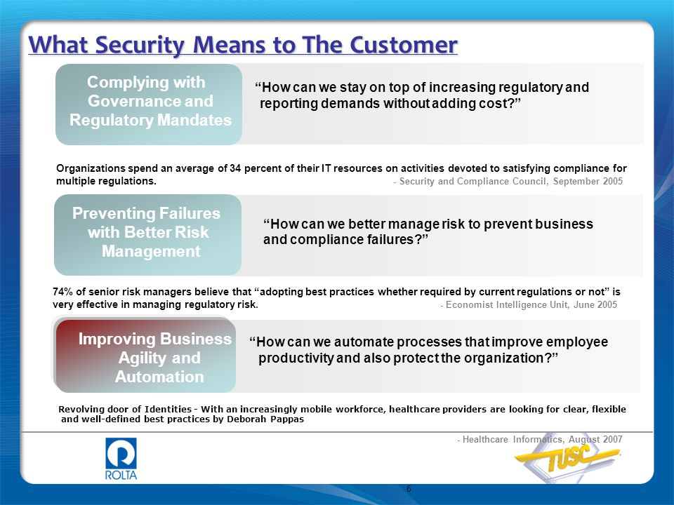 What Security Means to The Customer