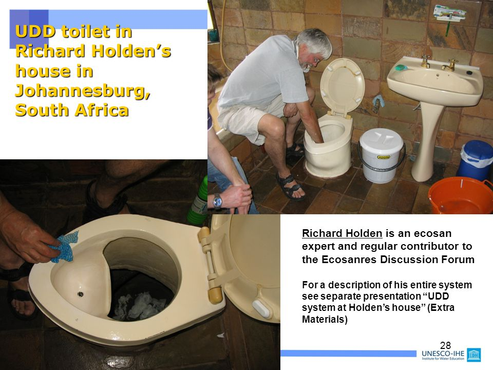 UDD toilet in Richard Holden's house in Johannesburg, South Africa