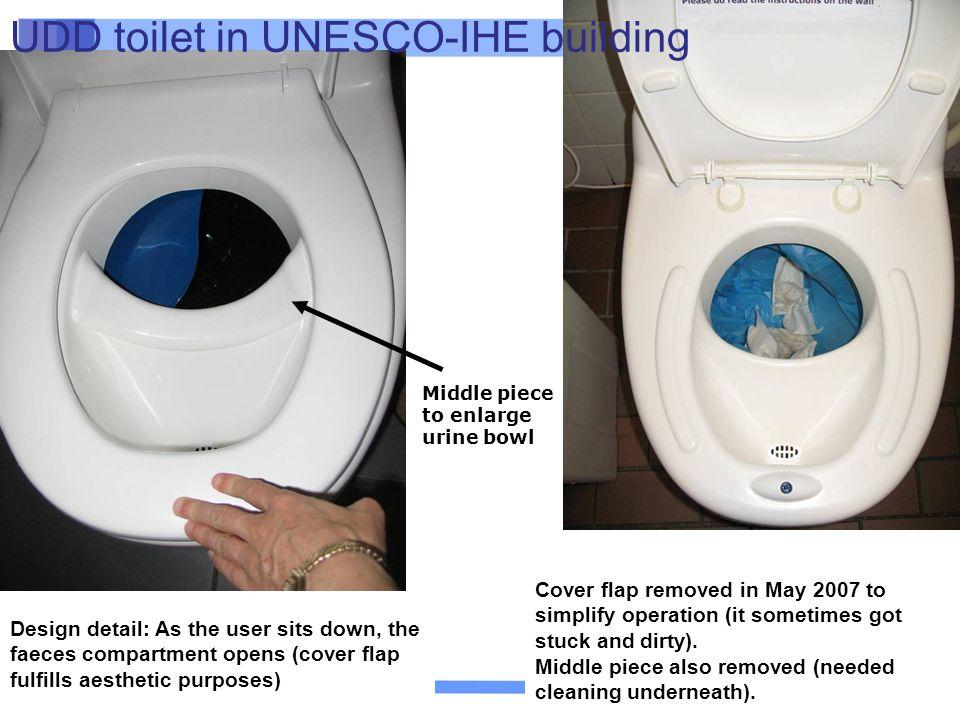 UDD toilet in UNESCO-IHE building