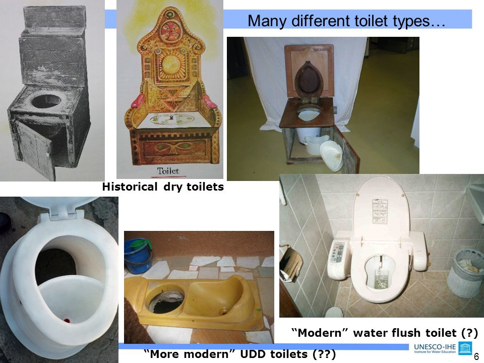 Many different toilet types…