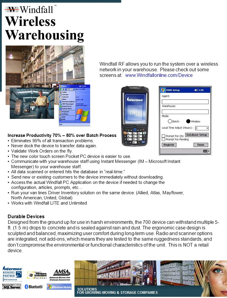 Wireless Warehousing Windfall