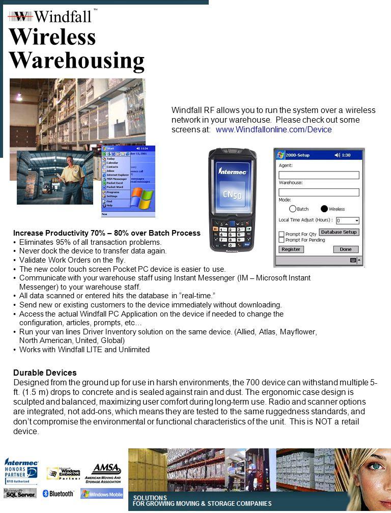 Wireless Warehousing Windfall