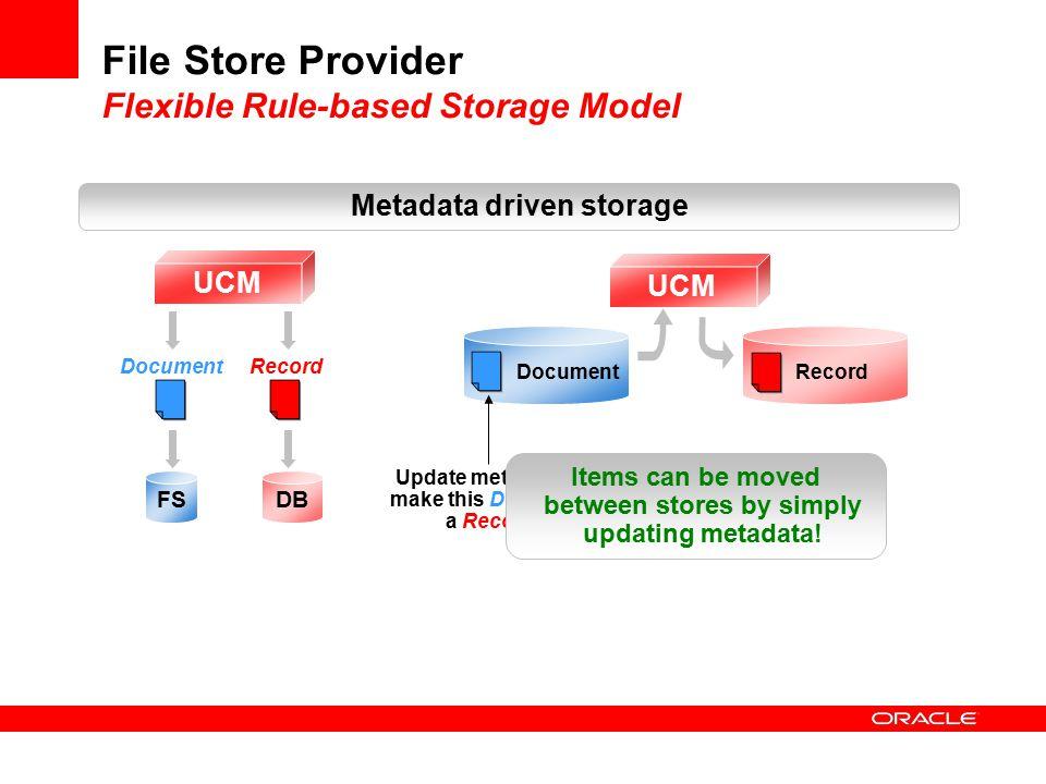 File Store Provider Flexible Rule-based Storage Model