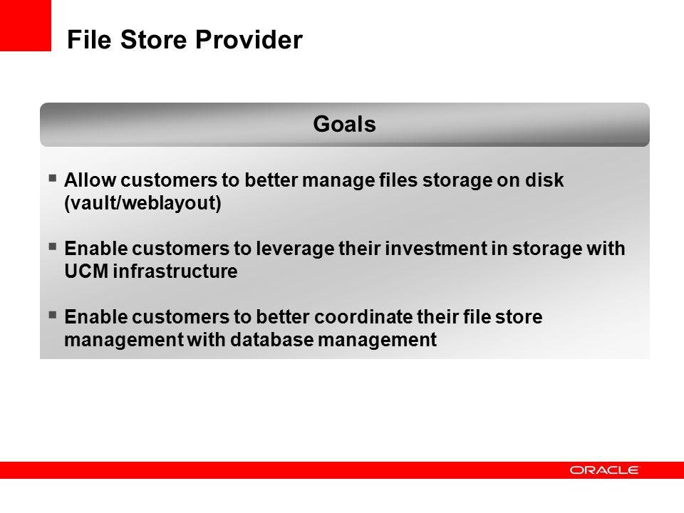 File Store Provider Goals
