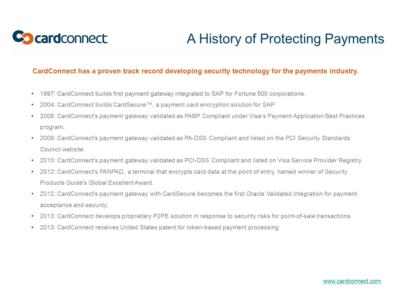 A History of Protecting Payments
