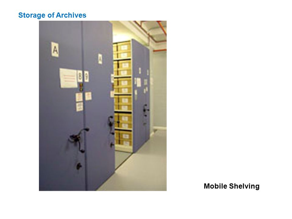 Storage of Archives Mobile Shelving