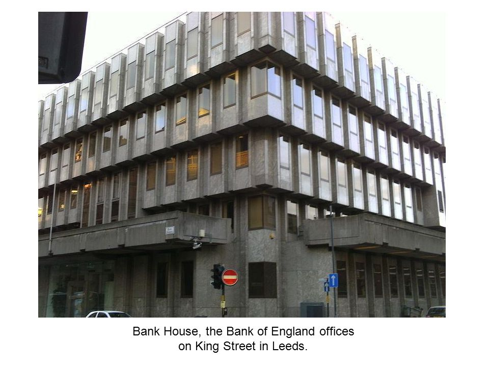 Bank House, the Bank of England offices on King Street in Leeds.