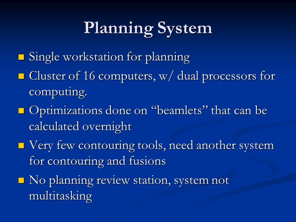 Planning System Single workstation for planning