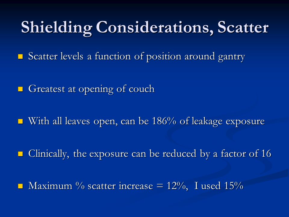 Shielding Considerations, Scatter