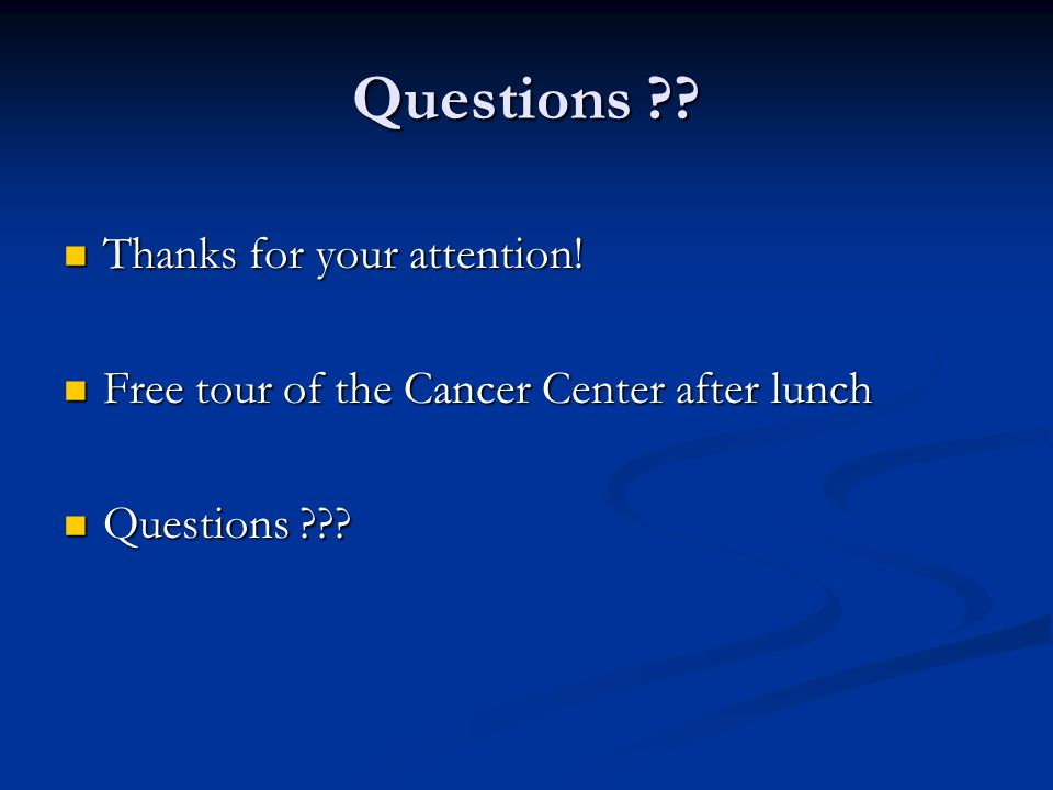 Questions Thanks for your attention!