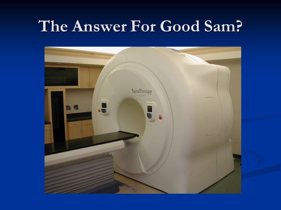 The Answer For Good Sam