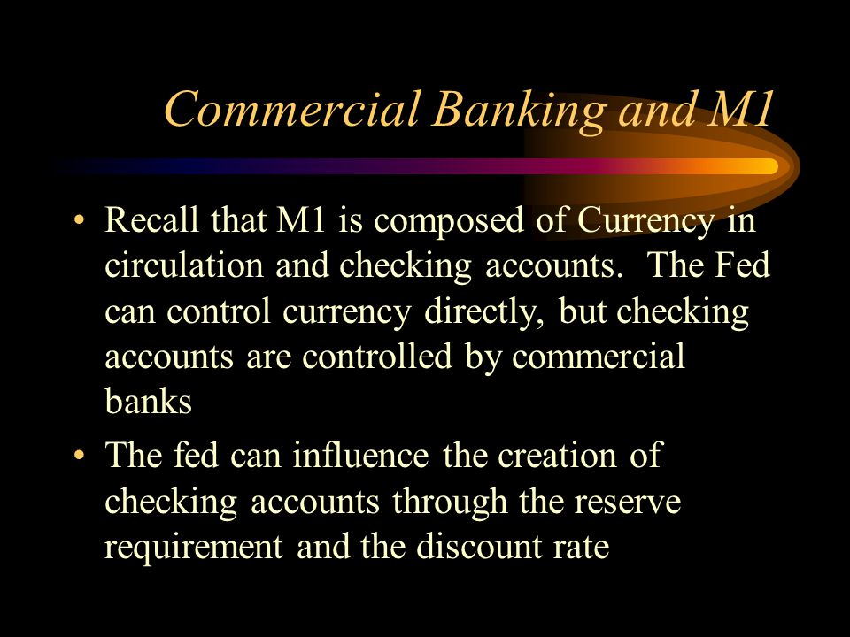 Commercial Banking and M1