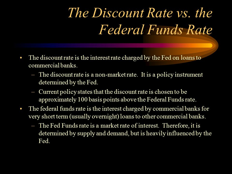 The Discount Rate vs. the Federal Funds Rate