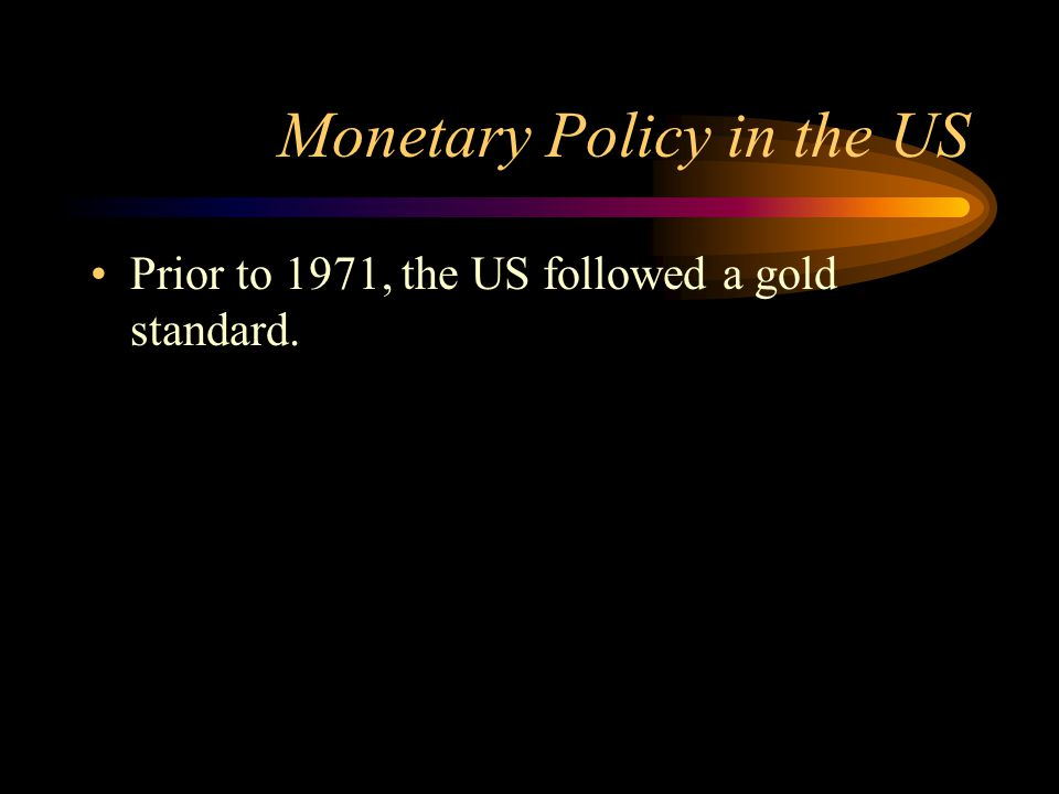 Monetary Policy in the US