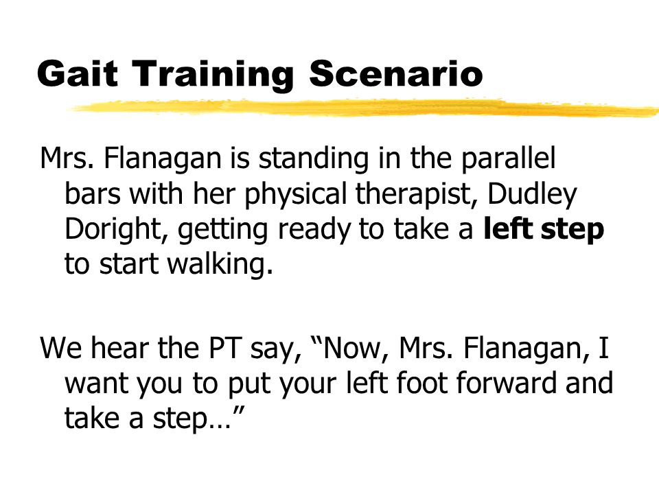 Gait Training Scenario