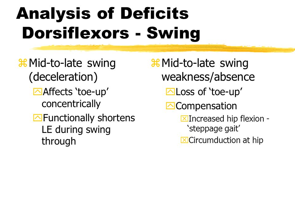 Analysis of Deficits Dorsiflexors - Swing