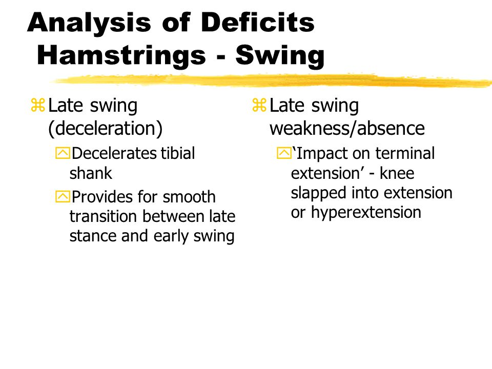 Analysis of Deficits Hamstrings - Swing