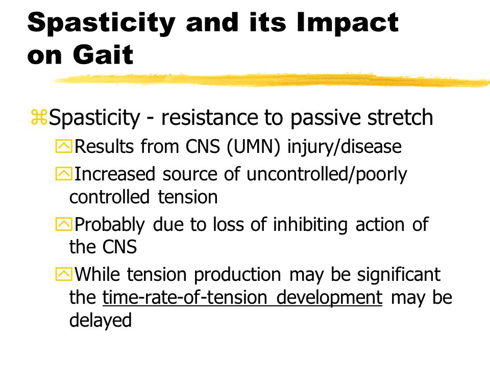 Spasticity and its Impact on Gait