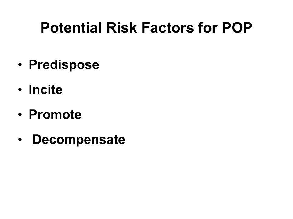Potential Risk Factors for POP