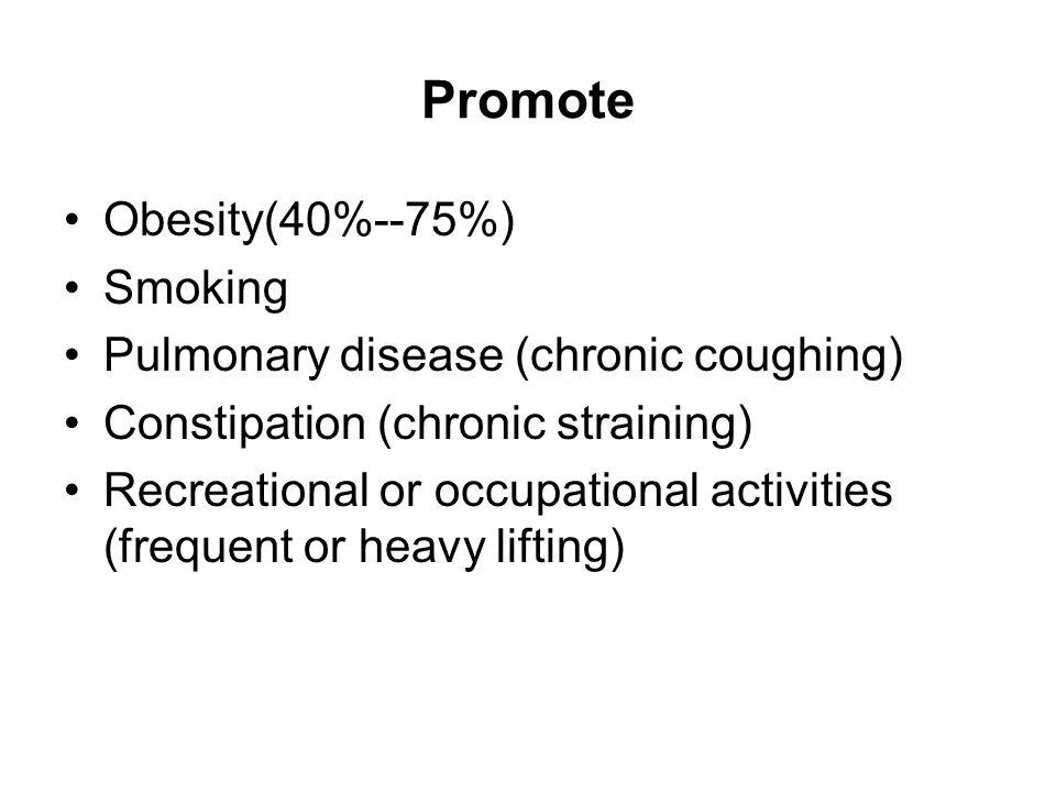 Promote Obesity(40%--75%) Smoking Pulmonary disease (chronic coughing)