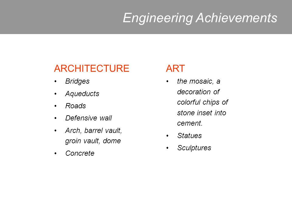 Engineering Achievements