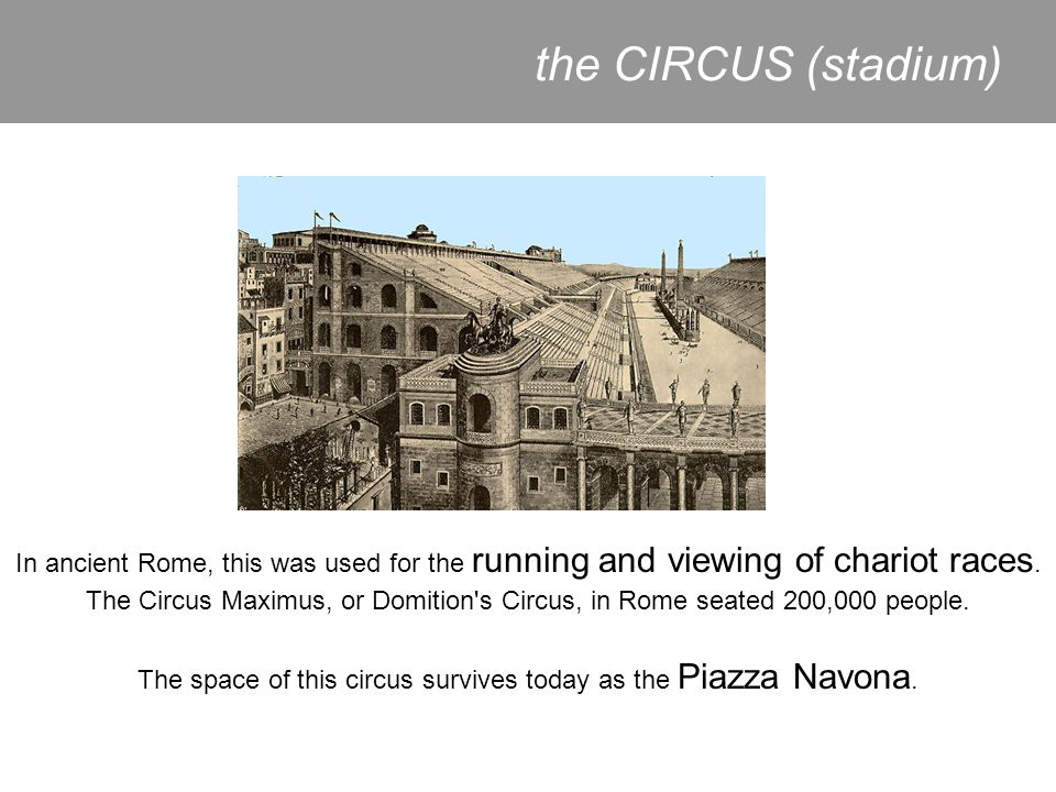 The space of this circus survives today as the Piazza Navona.