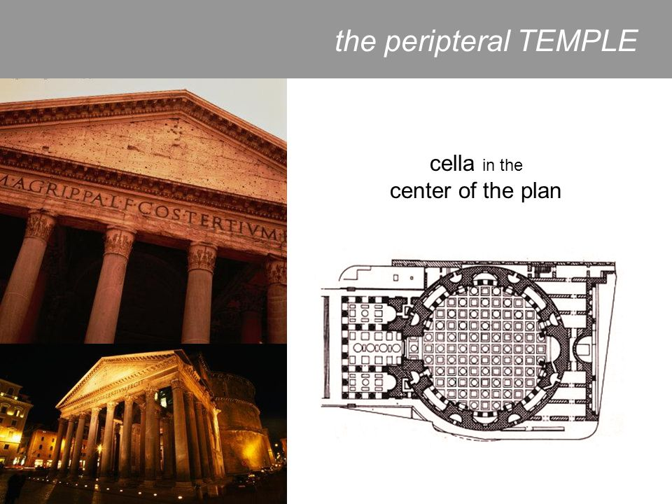 cella in the center of the plan