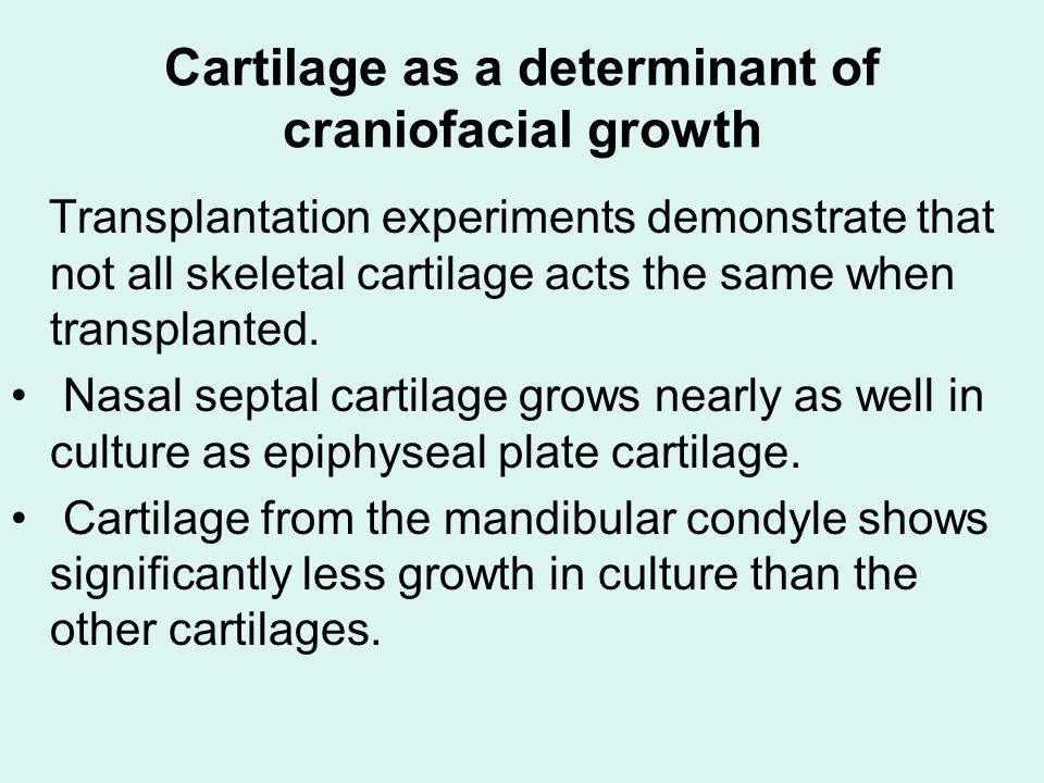 Cartilage as a determinant of craniofacial growth