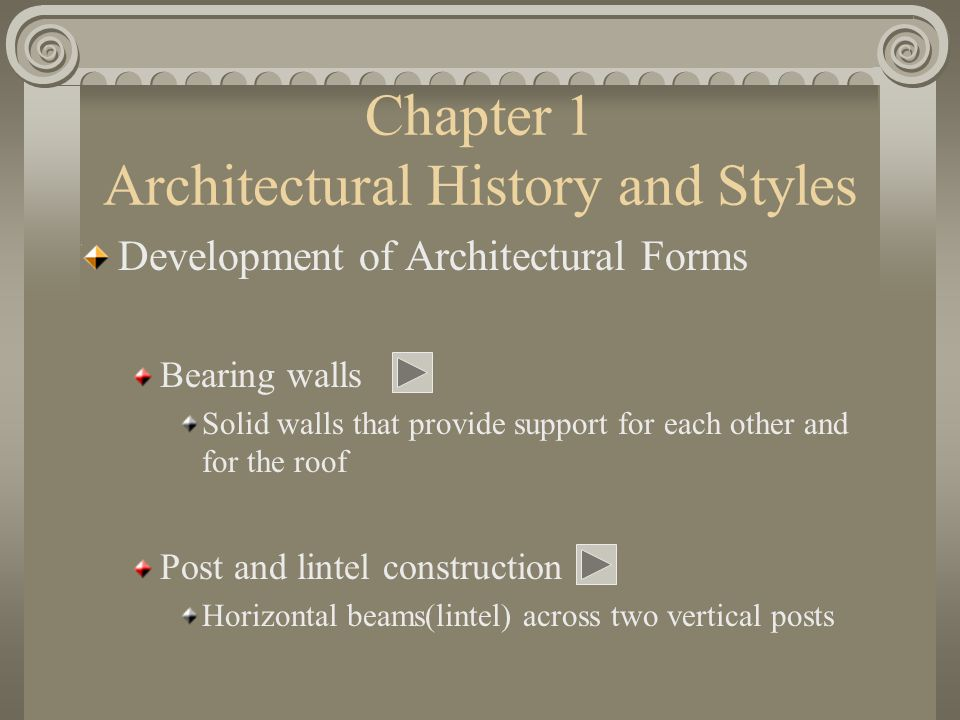 Chapter 1 Architectural History and Styles
