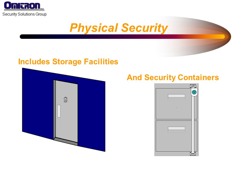 Physical Security Includes Storage Facilities And Security Containers