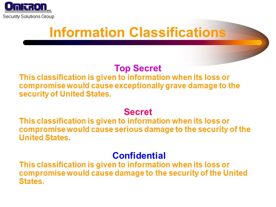 Information Classifications