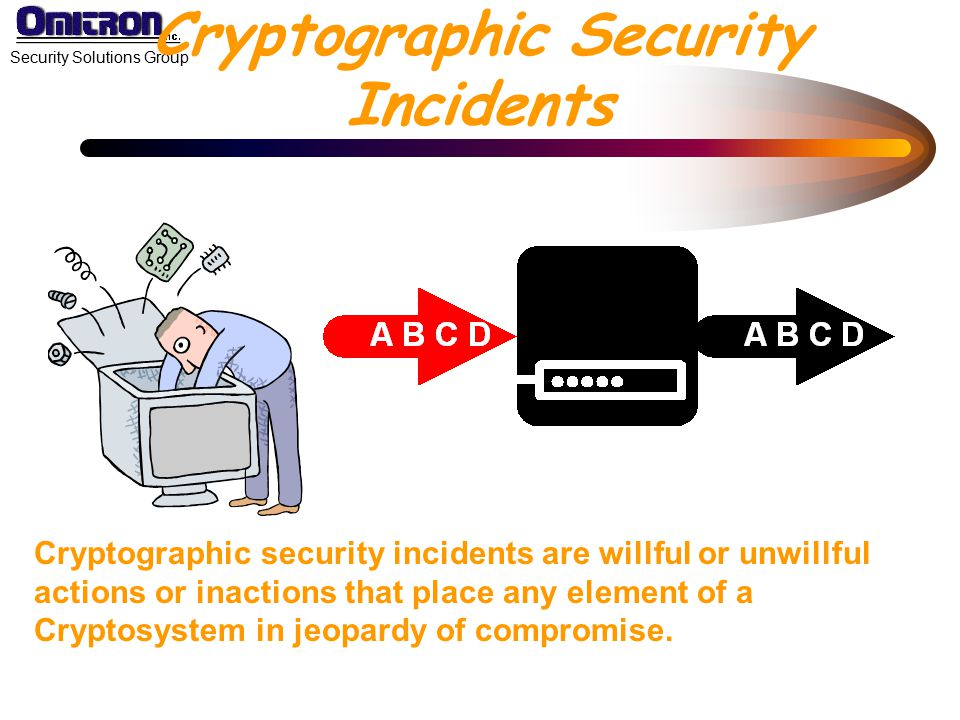 Cryptographic Security Incidents