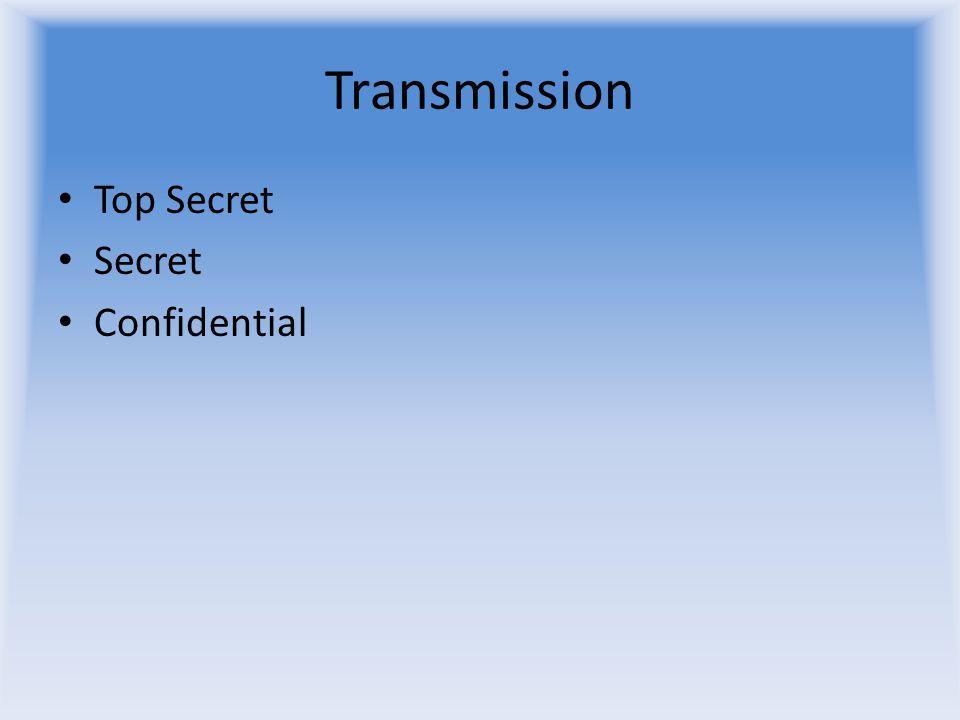 Transmission Top Secret Secret Confidential