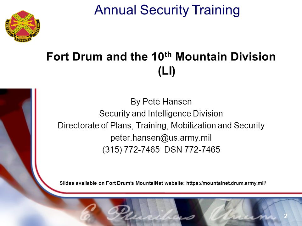Fort Drum and the 10th Mountain Division (LI)