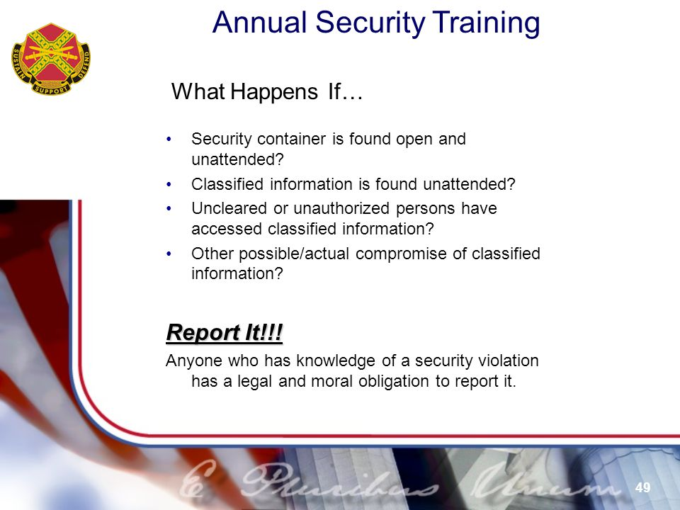 What Happens If… Report It!!!