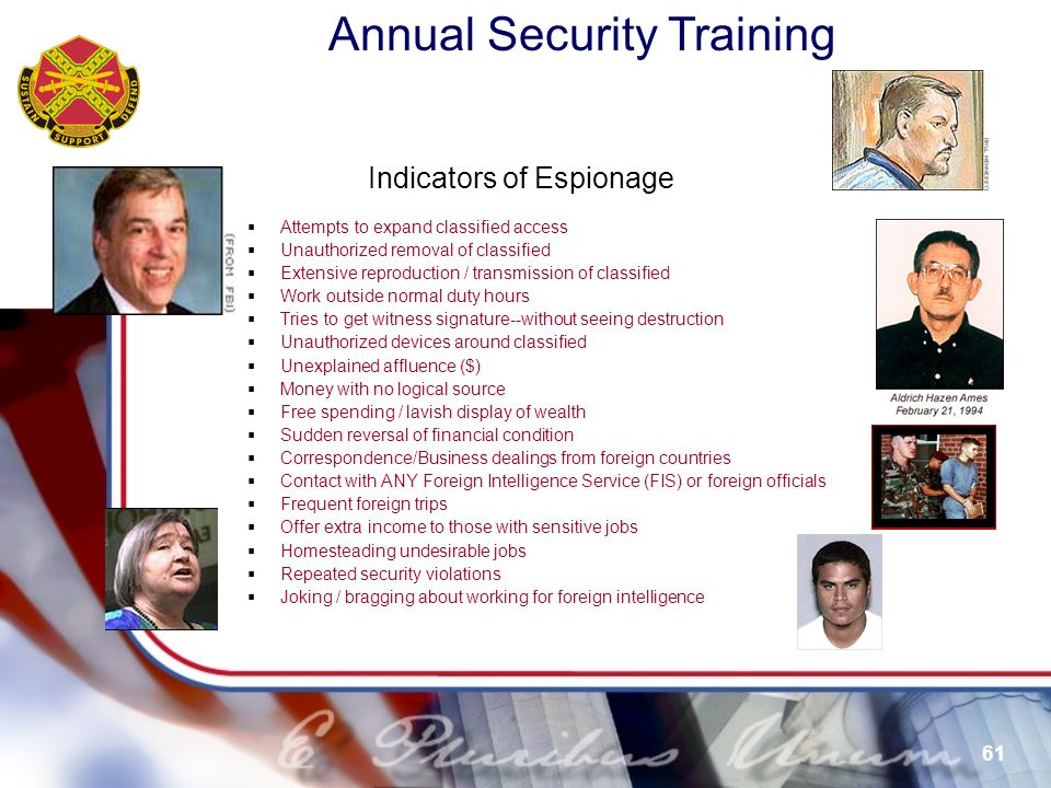 Indicators of Espionage