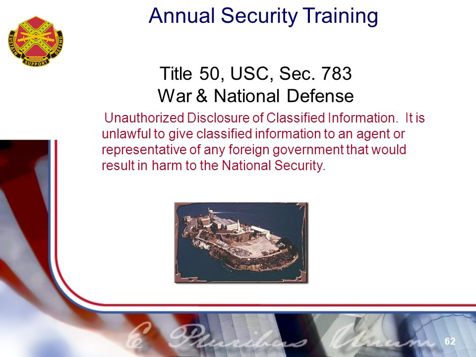 Title 50, USC, Sec. 783 War & National Defense