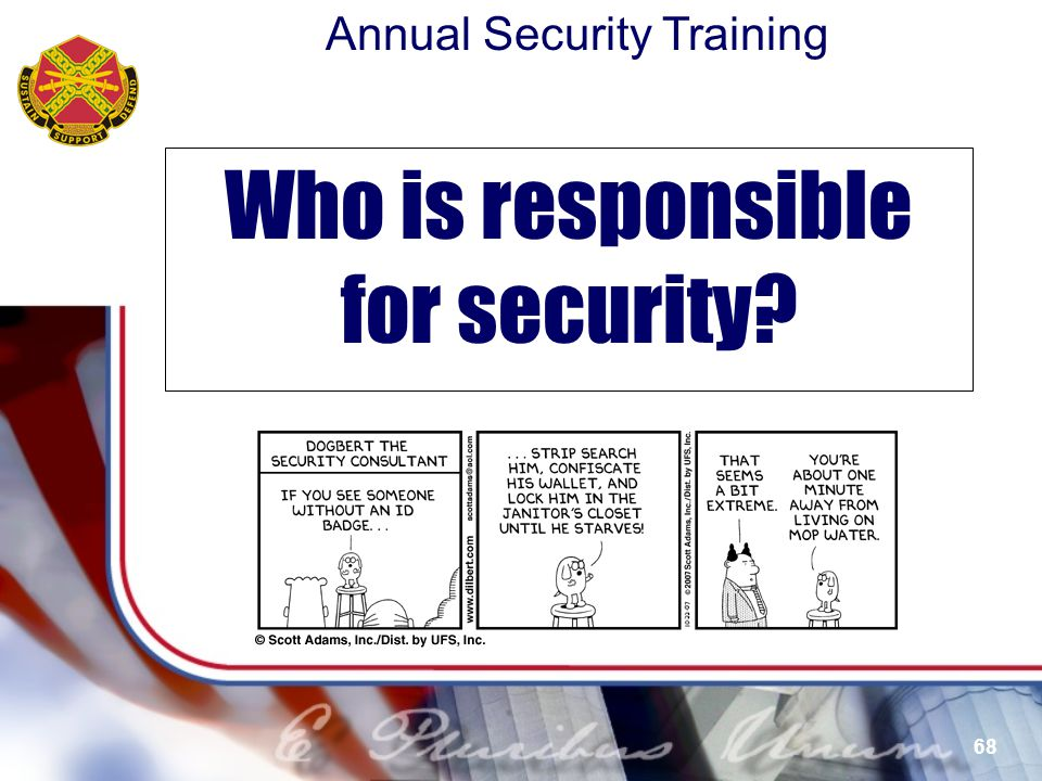 Who is responsible for security