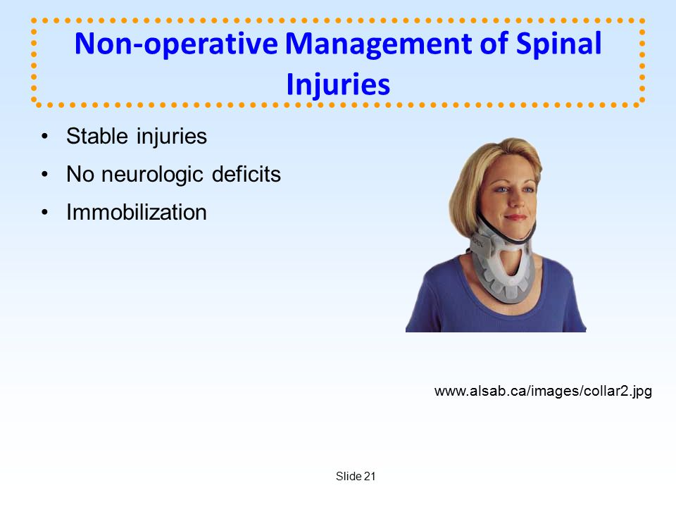 Non-operative Management of Spinal Injuries