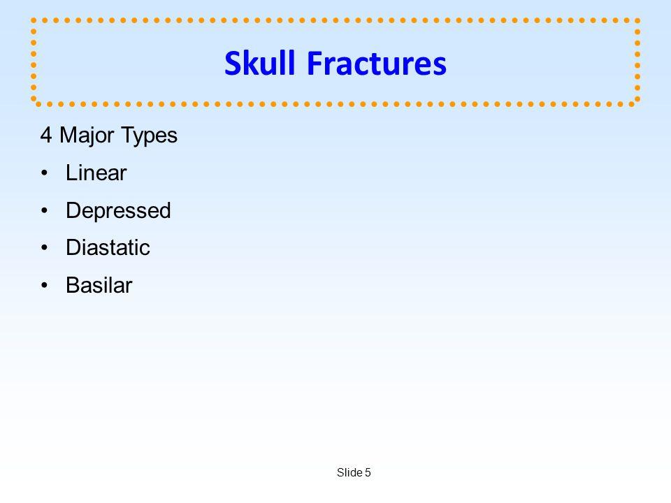 Skull Fractures 4 Major Types Linear Depressed Diastatic Basilar